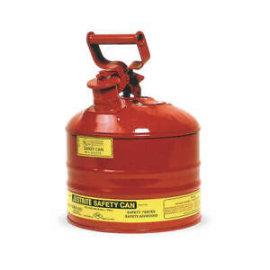 Justrite Type I Safety Can 2 5 Gal red 11 1 2in H 7125100