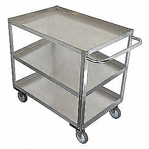 Grainge Stainless Steel Unassembled Utility Cart ss 53 L 1200 Lb 11a465 Silver