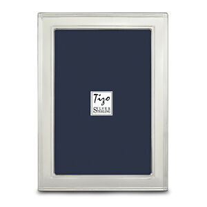 Sterling Silver Lined Edge 4x6 Photo Frame