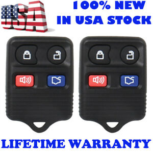Hot 2x Keyless Entry Remote Control Car Key Fob Clicker Transmitter Replacement