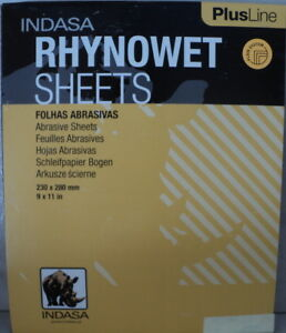 Indasa Rhynowet Plus 9x11 2000 Grit Wet dry Sandpaper 50 Sheets 1 2000