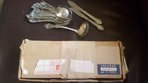 Gorham Sterling Silver Spoons 2lb 4 5 Oz And Knives 3 1 Oz Original Us Mail
