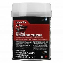 Bondo 261 Auto Body Filler Metal Car Boat Bondo Kit Cream Hardener