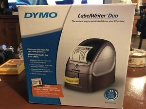 Dymo Label Writer Duo 93105 Thermal Label Printer Never Used