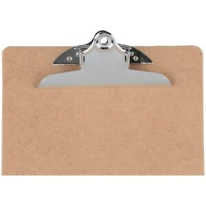 Officemate Letter Size Wood Clipboards 6 Inch Clip 24 Pack Clipboard Brown 8