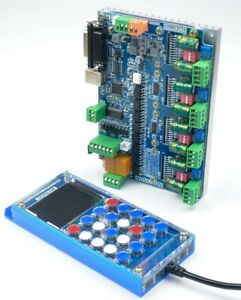 Usb Mach3 125k 4 Axis Stepping Motor Drive Cnc Controller Board handle Remote