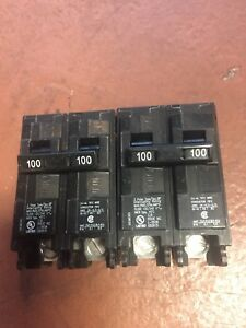 Siemens Q2100p 100 amp 2 Pole 240 volt Circuit Breaker Two Of Them