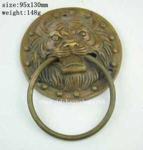 Large Chinese Brass Foo Dog Foo Lion Door Knocker Nr