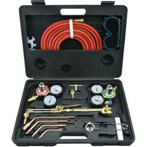Gas Welding Cutting Kit Victor Type Acetylene Oxygen Torch Set Regulator New