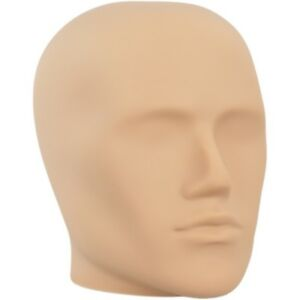 Mn e2 Fleshtone Plastic Male Abstract Head Attachment For Form Or Mannequin