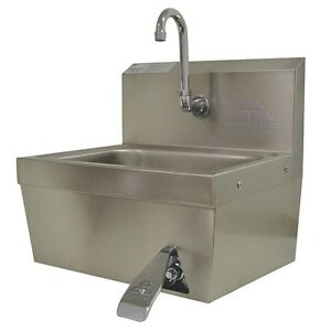 Advance Tabco Stainless Steel Hand Sink With Faucet Wall Mounting 7 ps 30
