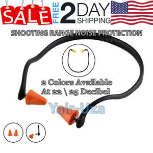 Shooting Firing Range Ear Plugs Neck Band Hearing Noise Protection 2 Pack Titus