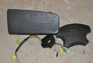 1999 Honda Civic Ex Coupe Airbags Driver Passenger Airbag Clock Spring Black