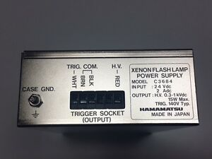 Hamamatsu Xenon Flash Lamp Power Supply Model 3684 Excellent Condition