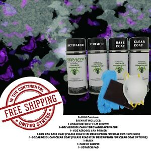 Hydrographic Water Transfer Hydro Dip Kit Activator Black Butterfly Film