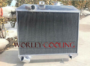 3 Row Aluminum Radiator For 1941 1952 Jeep Willys 42 43 44 45 46 47 48 49 50 51