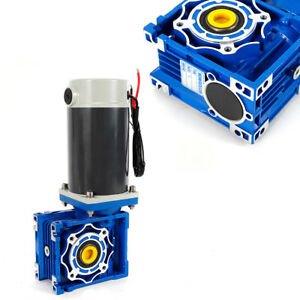 90w 300w Dc 12v 24v Worm Gear Motor With Gear Head Reducer Box Gear Ratio Rv40