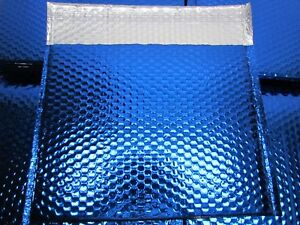 Lot Of 30 Glamour Bubble Mailers 13 3 4 X 11 Metallic Blue Fancy Adhesive