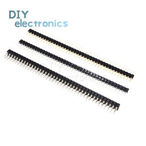 Header Strip Connector 40pin 2 54mm Round Male female Single double Straight Us