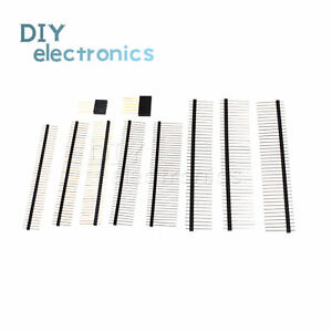 Pin Header 2 0 2 54mm Pitch 4 6 40 Pin Single Stackable Shield Male female Us