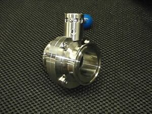 Stainless Tri Clamp Butterfly 4 Position Valve 3 O d Sanitary Tcbfv76mm