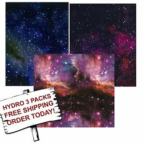 Hydrographic Film Water Transfer Printing Film Hydro Dip Galaxy Pack 3 Pack