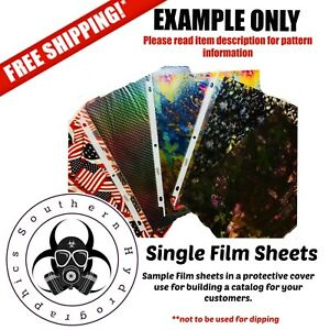 Hydrographic Water Transfer Hydro Dip Single Catalog Sheet Film Carbon Prism