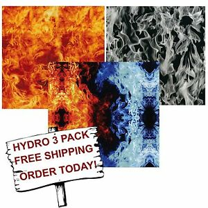 Hydro Dip Hydrographic Film Water Transfer Printing Film Flame 2 3 Pack
