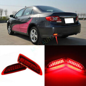 For Toyota Corolla 2011 2013 Brake Light Led Rear Fog Lamp Rear Bumper Lights