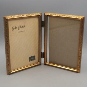 Vintage Gold Plated Double Metal Picture Frame 5x7