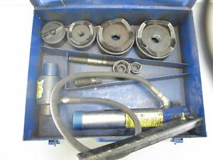 Current Tools 154pm Hydraulic Knockout Punch Set 1 2 To 4 Greenlee 7310sb