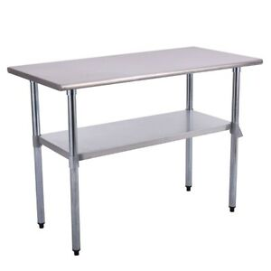 48 X 24 0 X 34 6 Restaurant Stainless Steel Work Prep Table Stainless Iron Us
