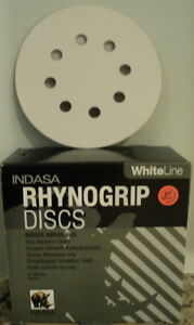 Two Pack Indasa Sanding Discs 220 Grit 5 Inch Hook Loop 8 Hole 100 Discs