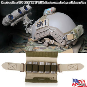 Helmet Rail Counter Weight Bag Pouch Accessoy For OPS-CORE FAST BJ PJ MH Helmet