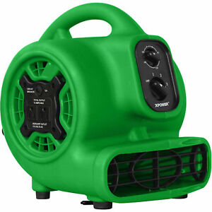 Xpower Mini Air Mover Portable Green Dryer Powerful Home Blower Device 1 5hp
