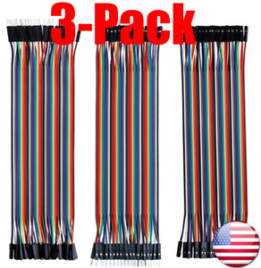 1x 3x 40 Pcs10 20 30cm Mm Mf Ff Dupont Wire Jumper Cable Arduino Breadboard