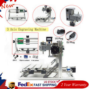 3 Axis Cnc Router Mini Engraver Grbl Control Drilling Milling Engraving Machine