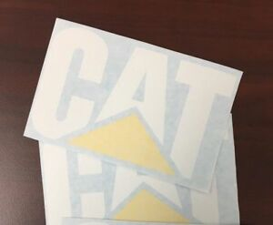 Caterpillar Decals Vinyl Stickers 2 Items 18 x13 Free Shipping