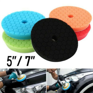 5 Pack 5 7 Polishing Sponge Waxing Buffing Pads Compound Auto Car Polisher New