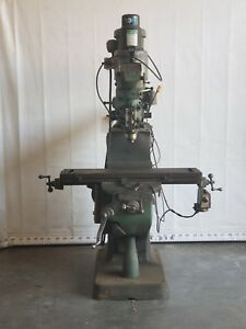 Bridgeport Series I Vertical Mill Dro Air Chuck Power Feed