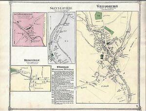 1873 Williamsburg Village Ma Map That Has Been Removed From The 1873 Atlas