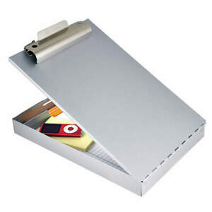 Saunders Storage Clipboard legal Sz metal silver 11019 Silver