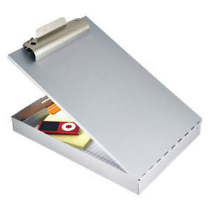 Saunders Storage Clipboard letter Sz metal silver 11017 Silver