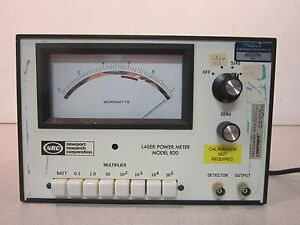 Newport Research Corporation 820 Analog Power Meter Powers On Priced To Move