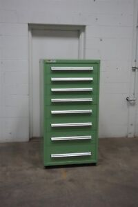 Used Stanley Vidmar 8 Drawer Cabinet Industrial Tool Parts Storage 1515