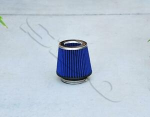 4 Silver Blue Short Ram High Flow Mesh Replacement Air Intake Cone Filter