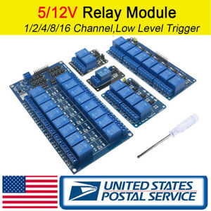 1 2 4 8 16 Channel Relay Module Boards Optocoupler Arduino Arm Avr Dsp Pic Plc