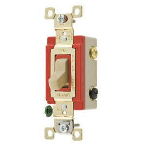 Bryant Light Wall Switch clear 20a 3 way Switch 4903plc120 Clear