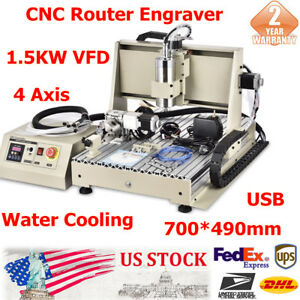 4 Axis 6040 Cnc Router 3d Engraver Metal Mill Machine 1500w Vfd controller Usb