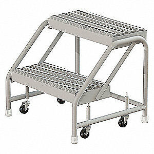 Tri arc Rolling Step steel 20 Overall H gray Wlst002212cas Gray